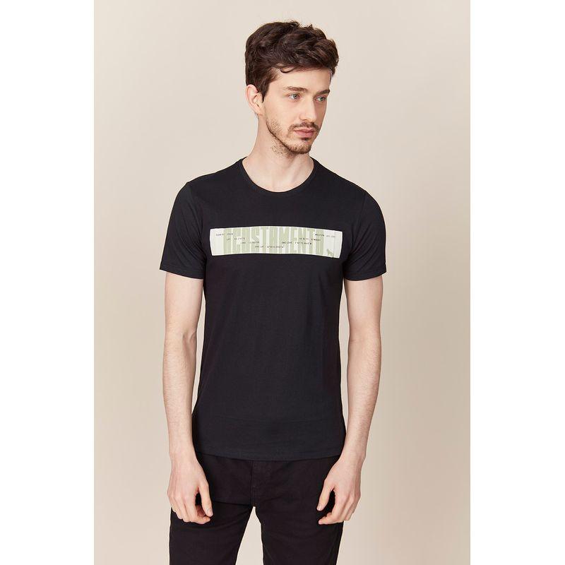 Camiseta-Acostamento-Casual-Rosa-Lettering