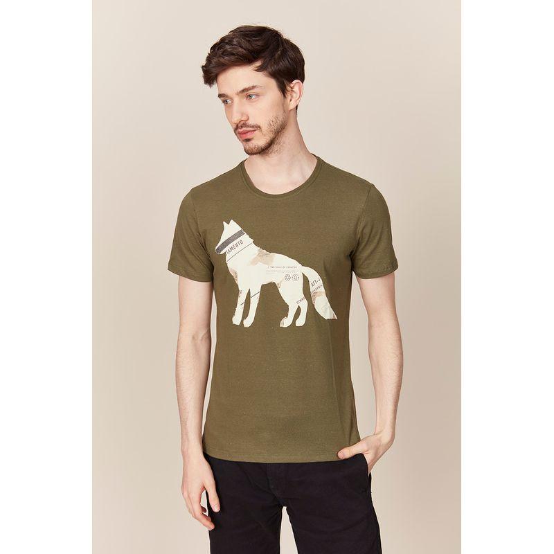Camiseta-Masculina-Lobo-Estampado-Acostamento