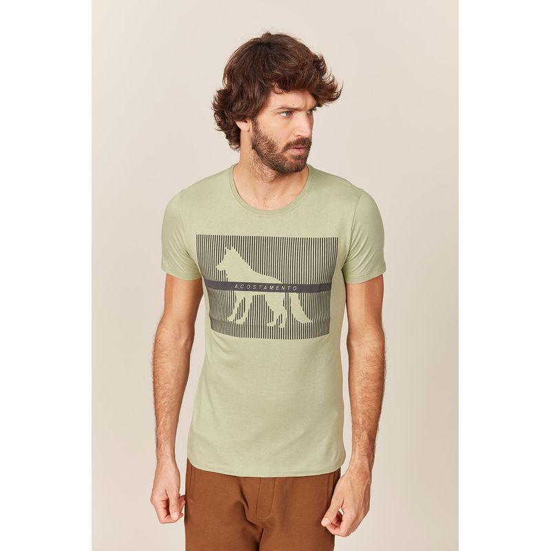 Camiseta Masculina Lobo Sobreposto Listras Acostamento 89102121--7-