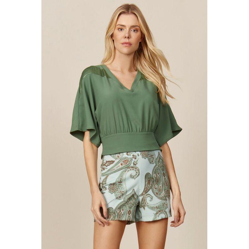 Blusa-Feminina-Detalhe-Decote-Satin-Viscose-Acostamento