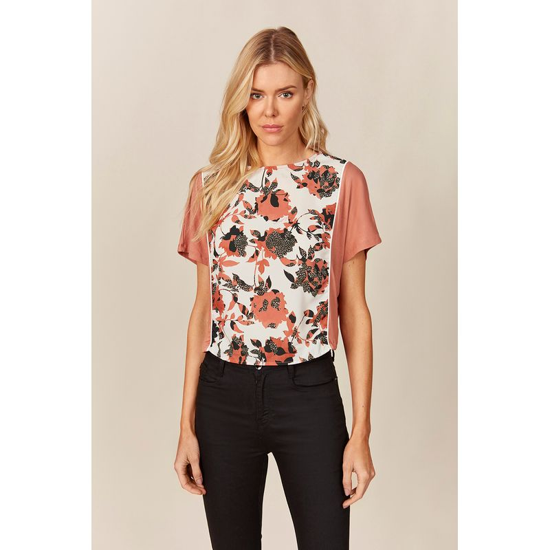 T-shirt-Feminina-Floral-Print-Acostamento